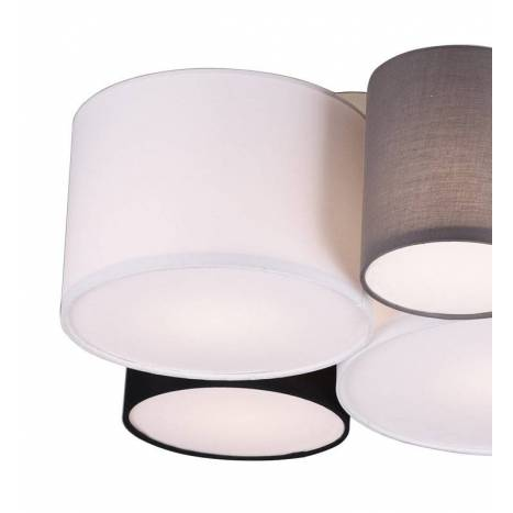 TRIO Hotel 4L E27 fabric ceiling lamp