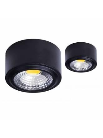 Plafón de techo Tubi LED aluminio negro - Daviu