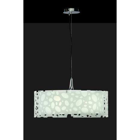 Mantra Moon pendant lamp round chrome/white 4L