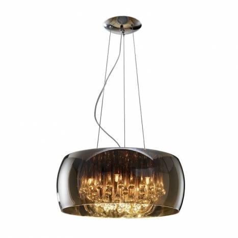 SCHULLER Argos large pendant lamp chrome 6 lights