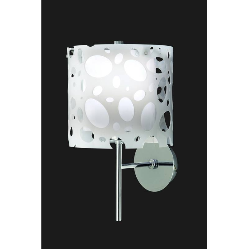 Wall Mounted Moon Lamp : Mantra Moon wall lamp chrome/white 1L