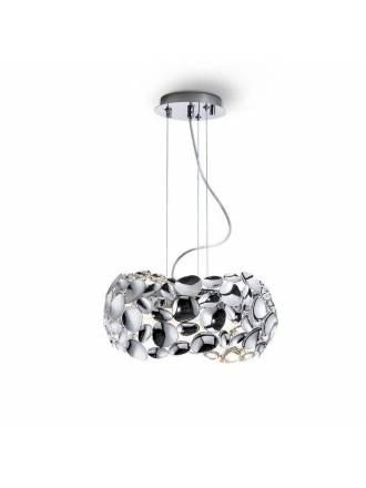 Lámpara colgante Narisa 32cm cromo - Schuller