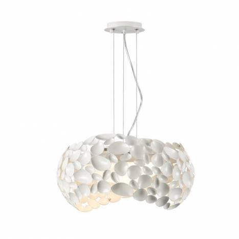 Lámpara colgante Narisa 47cm blanco - Schuller