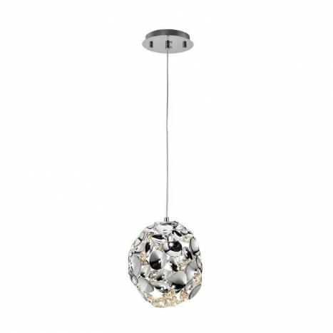 Lámpara colgante Narisa 18cm cromo - Schuller