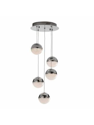 Lámpara colgante Sphere 5l cromo - Schuller