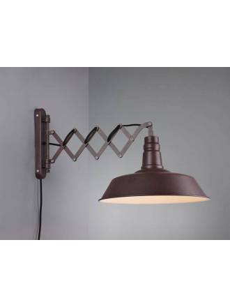 TRIO Detroit extensive wall lamp 1L rusty