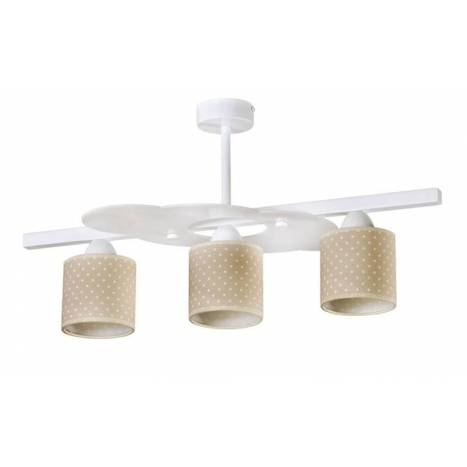 Lámpara de techo infantil Topitos 3L beige - Anperbar