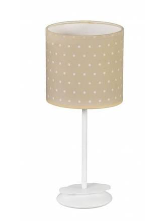 Lámpara de mesa infantil Topitos 1L beige - Anperbar