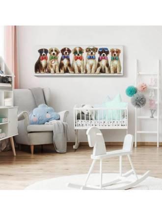Cuadro pintura Pets 120x40 acrílico - Schuller