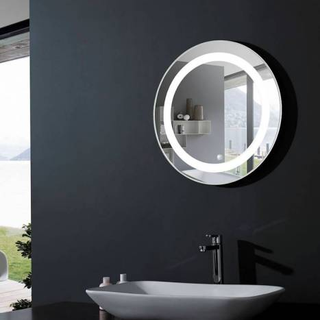Mauro 60cm Led Ip44 Round Bathroom Mirror