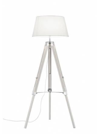 Lámpara de pie Tripod blanco - Trio