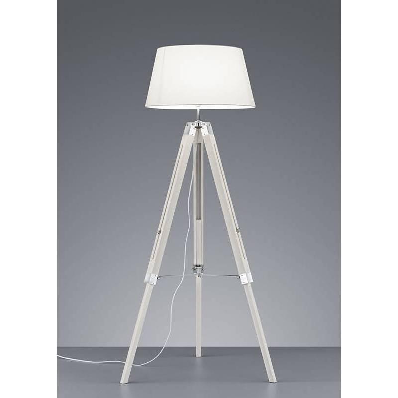 Trio Tripod Floor Lamp White Wood, Tripod Spotlight Floor Lamp Aldi