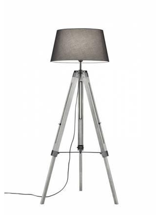 Lámpara de pie Tripod gris - Trio