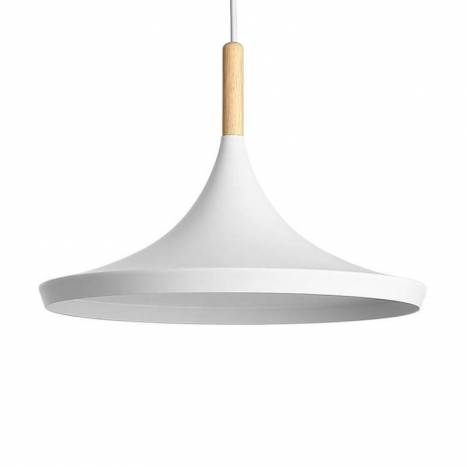 Lámpara colgante Aros 1L E27 blanco - Jueric