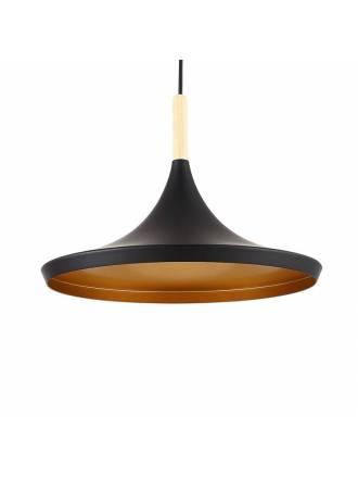 Lámpara colgante Aros 1L E27 negro - Jueric