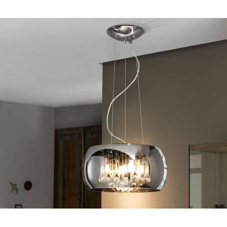SCHULLER Argos pendant lamp medium chrome 5L