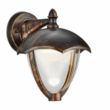 TRIO Gracht LED wall lamp antique rust