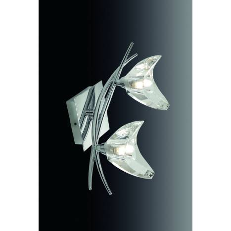 Mantra Eclipse wall lamp chrome 2L