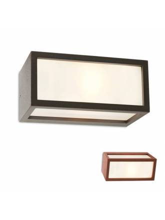 REDO Brick E27 IP54 aluminium outdoor wall lamp