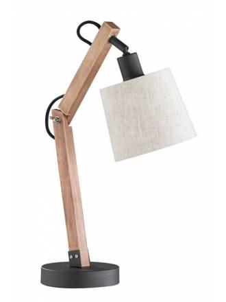 Lámpara de mesa Janko 1L E14 madera - Trio
