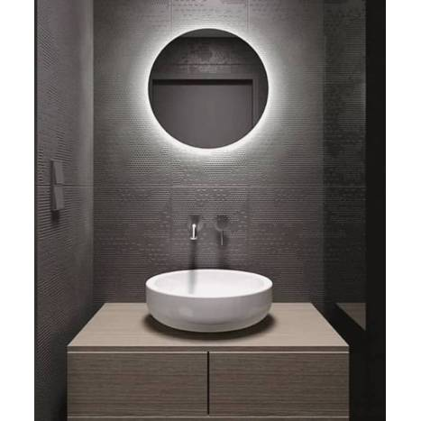 Bari 60cm Led Ip44 Round Bathroom Mirror