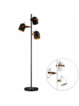 Lámpara de pie Adame 3L E14 aluminio - Schuller