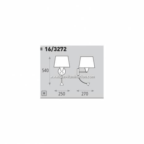 ACB Lisa wall lamp E27 + LED nickel
