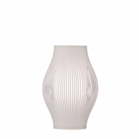Lámpara de mesa Murta 1L tela blanca - ACB