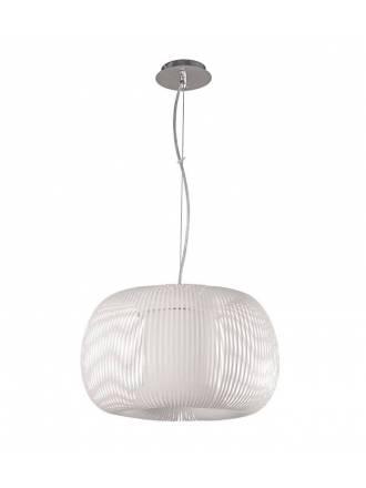 Lámpara colgante Mirta 1L tela blanca - ACB
