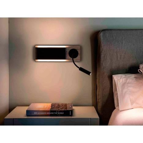 Aplique de pared Mood LED 6+2w lectura - Faro