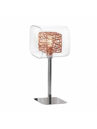 SCHULLER Lios 1L glass copper table lamp