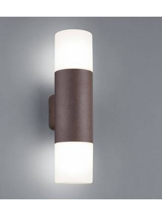 TRIO Hoosic 2L E27 IP44 wall lamp oxide