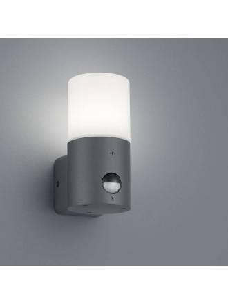 Aplique de pared Hoosic E27 Sensor IP44 antracita - Trio