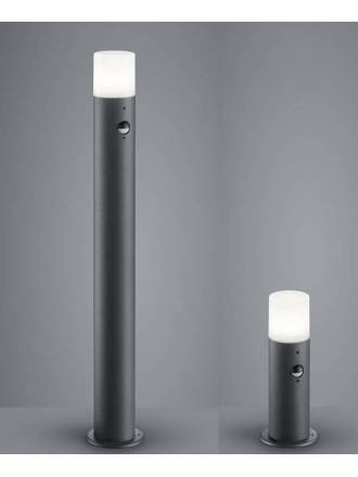 TRIO Hoosic E27 sensor IP44 beacon lamp anthracite