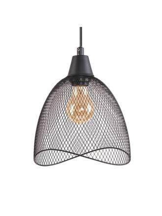 Lámpara colgante Nebel 1L E27 negro - Jueric