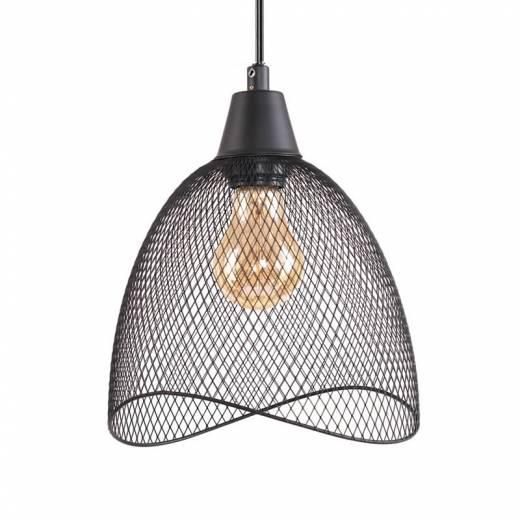 Superbe Lámpara Colgante Nebel 1L E27 Negro   Jueric