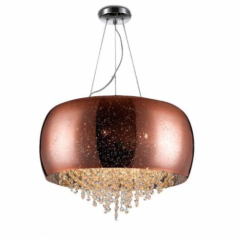 SCHULLER Caelum pendant lamp mirrored glass 6 lights