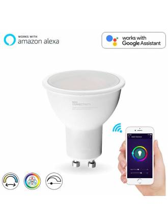 Bombilla inteligente LED 5w GU10 WIFI RGB+W - Maslighting