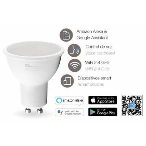 Bombilla inteligente LED 5w GU10 WIFI RGB+W - Maslighting