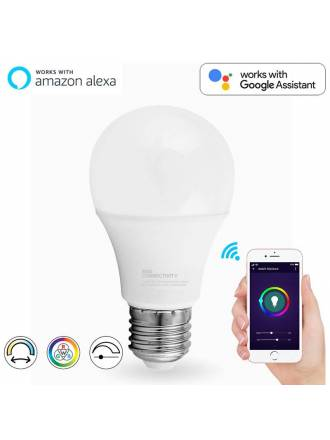 Bombilla inteligente LED 9w E27 WIFI RGB+W - Maslighting