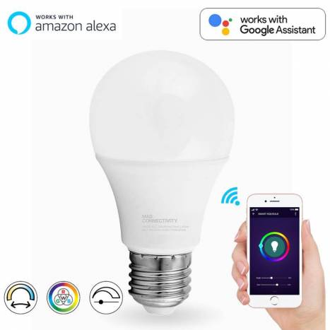 Bombilla inteligente LED 9w E27 WIFI RGB+W - Maslighting