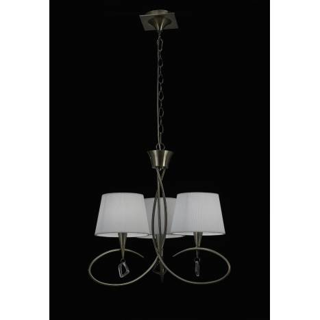 Mantra Mara pendant lamp 64cm 3L leather white