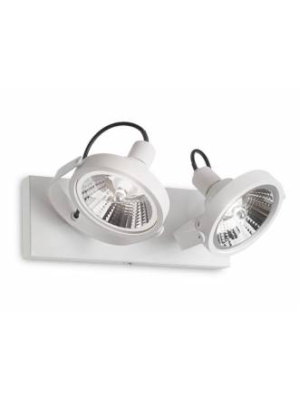 IDEAL LUX Glim 2L GU10 13w LED surface spotlight