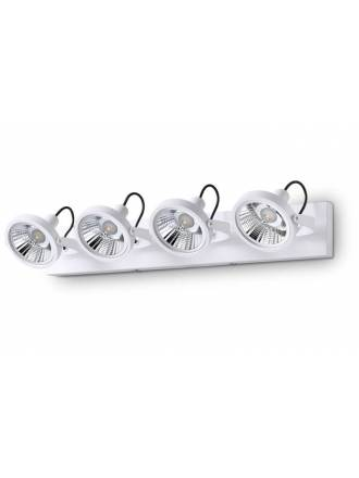 Regleta de focos Glim 4L GU10 LED 13w - Ideal Lux