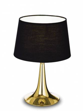 IDEAL LUX London TL1 brass table lamp