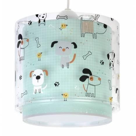 Lámpara colgante infantil Happy Dogs 3L - Dalber
