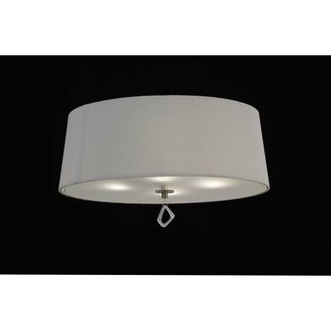 Mantra Mara ceiling lamp 55cm 4L leather white