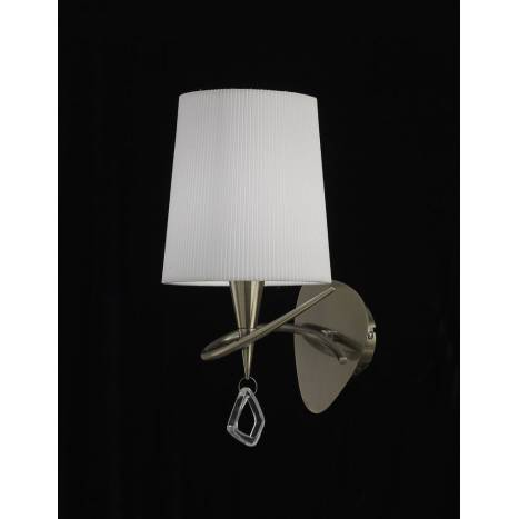 Mantra Mara wall lamp 15cm E14 20w leather white