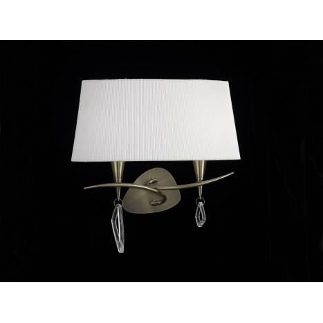 Mantra Mara wall lamp doble 2L leather white