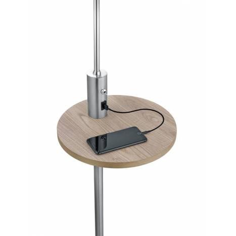 TRIO Claas E27 + USB floor lamp
